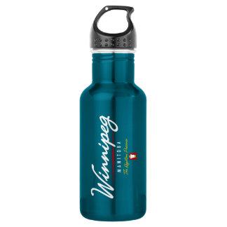 Winnipeg Script Stainless Steel Water Bottle