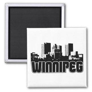 Winnipeg Skyline 2 Inch Square Magnet