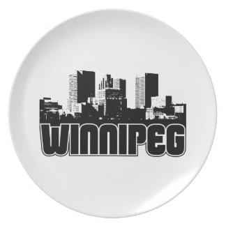 Winnipeg Skyline Dinner Plate