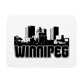 Winnipeg Skyline Rectangular Photo Magnet