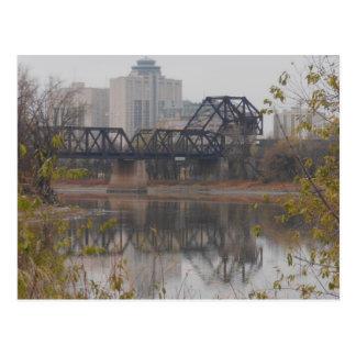 Winnipeg Train Bridge Postcard