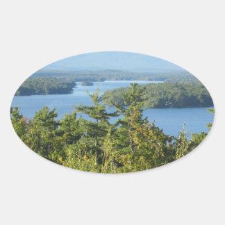 Winnipesaukee Overlook Oval Sticker