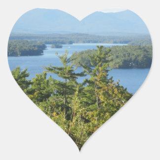 Winnipesaukee Overlook Heart Sticker