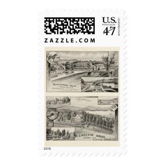 Winnipiseogee House, Lakeside House Postage Stamp