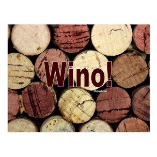 Wino! Postcard