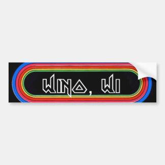 Wino, WI KLOS Bumper Sticker Car Bumper Sticker