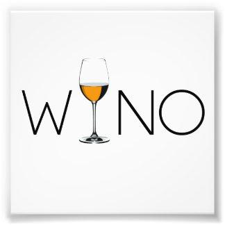Wino Wine Lover Glass Photo Print