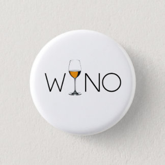 Wino Wine Lover Glass Pinback Button