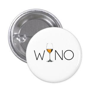 Wino Wine Lover Glass Pinback Button