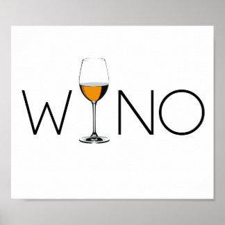 Wino Wine Lover Glass Poster