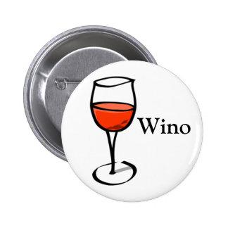 Wino Word Funny Wine Quote Special Events Festival 2 Inch Round Button