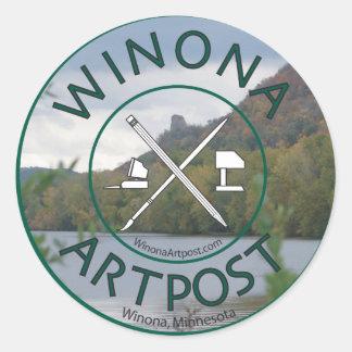 winona Artpost Classic Round Sticker
