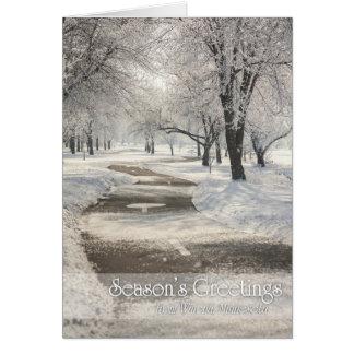 Winona Christmas Card: Frosty Path at East Lake* Greeting Card