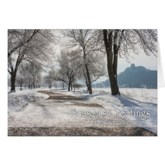Winona Christmas Card: Sugarloaf with Frost