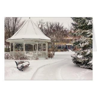 Winona Christmas Card: Windom Park Gazebo