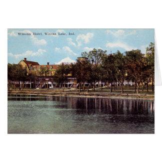 Winona Lake Indiana Winona Hotel Card