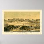 Winona, mapa panorámico del manganeso - 1867 impresiones