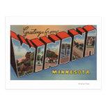 Winona, Minnesota - escenas grandes de la letra Tarjeta Postal