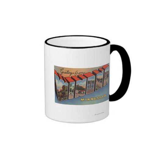 Winona, Minnesota - Large Letter Scenes Coffee Mug