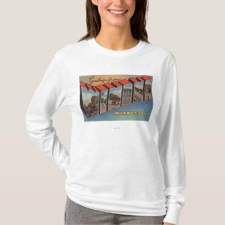 Winona, Minnesota - Large Letter Scenes T-Shirt