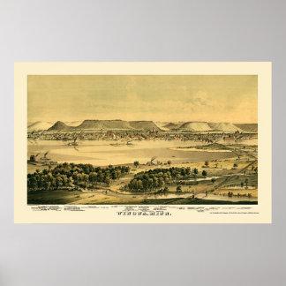 Winona, MN Panoramic Map - 1867 Poster
