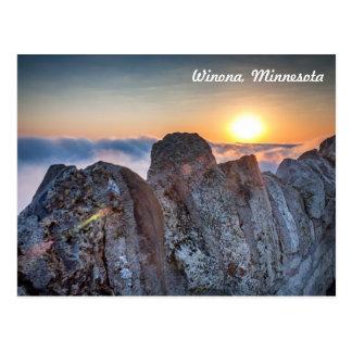 Winona MN Postcard: Garvin Heights Fog Postcard