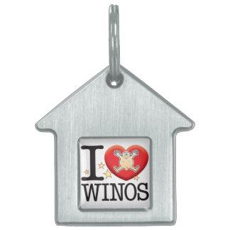 Winos Love Man Pet Tag
