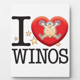Winos Love Man Plaque