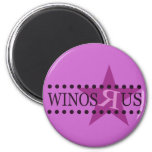 Winos R Us (Purple) 2 Inch Round Magnet
