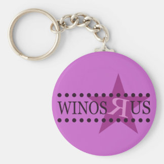 Winos R Us (Purple) Keychain