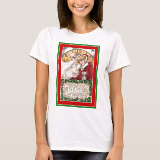 Winsch New Year;s Day Father Time & Young Woman T-Shirt