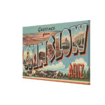 Winslow, Arizona - Large Letter Scenes Gallery Wrapped Canvas
