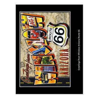 winslow arizona postcard