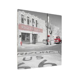 Winslow Arizona Red Splash Photograph Metal Print