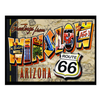 Winslow Arizona vintage postcard