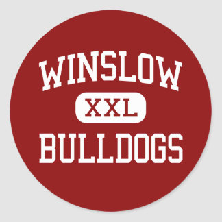 Winslow - Bulldogs - Junior - Winslow Arizona Classic Round Sticker