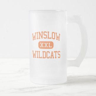 Winslow - gatos monteses - joven - Winslow Maine Taza De Cristal