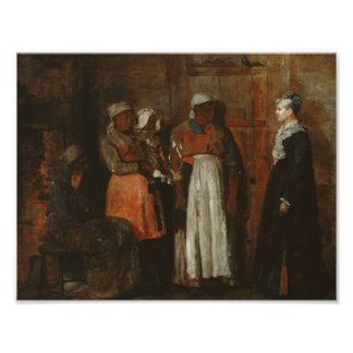Winslow Homer - A Visit from the Old Mistress Photo Print