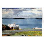 Winslow Homer - agua de tierra adentro, Bermudas Tarjeta De Felicitación