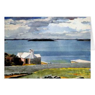 Winslow Homer - agua de tierra adentro, Bermudas Tarjeta Pequeña