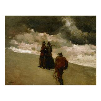 Winslow Homer - al rescate Tarjeta Postal