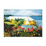 Winslow Homer art: Flower Garden and Bungalow Stretched Canvas Print