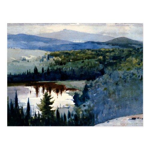 Winslow Homer art Indian Village Adirondacks Postcard
