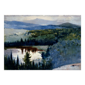 Winslow Homer art - Indian Village, Adirondacks Poster