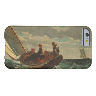Winslow Homer Breezing encima de la bella arte del Funda De iPhone 6 Barely There