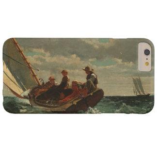 Winslow Homer Breezing encima de la bella arte del Funda Para iPhone 6 Plus Barely There