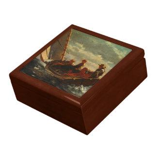 Winslow Homer - Breezing encima de un viento justo Joyero Cuadrado Grande