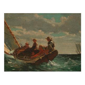 Winslow Homer - Breezing Up (A Fair Wind) Postcard