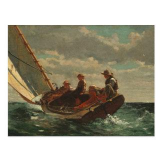Winslow Homer Breezing Up Fine Art Postcard