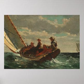 Winslow Homer Breezing Up Fine Art Poster
